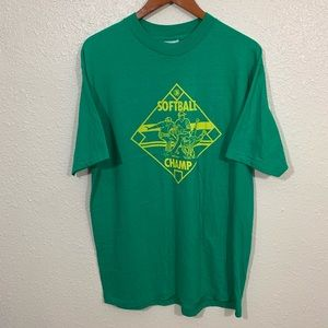 Vintage 90s Softball Irvine Single Stitch Shirt